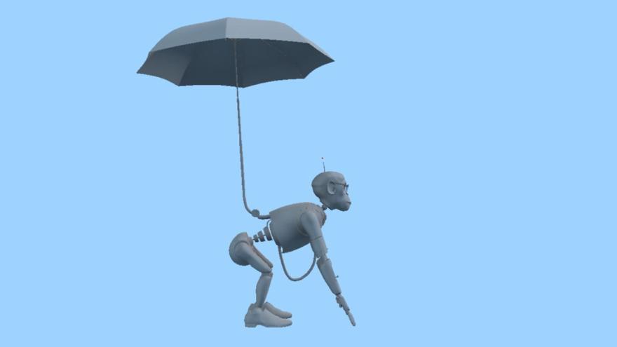 Robot chimp by Craig Coady